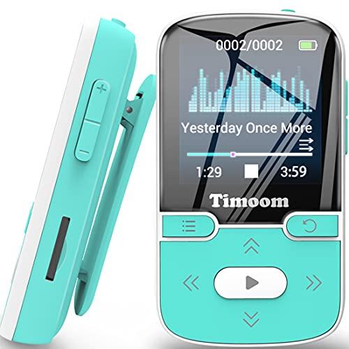 HOCO Lettore MP3 32GB Bluetooth 5.0 con Clip con Radio FM,X57 MP3 Player per Sport e Corsa, Sostegno SD USB TF Fino alla Carta di 128GB X57