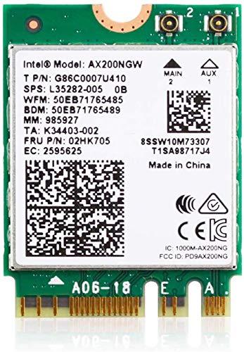 Ziyituod WiFi 6 AX200NGW 802.11ax M.2 WLAN Karte 2402 Mbit/s 5 GHz und 574 Mbit/s 2,4 GHz Funkmodul für Laptop Desktop mit Bluetooth 5.1, Windows 10 64 Bit und Linux, M.2 / NGFF 2230 (AX200NGW)