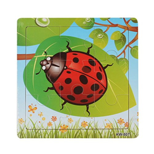 Amlaiworld Jouets puzzle en bois coccinelle For Kids Education And Learning Puzzles jouets