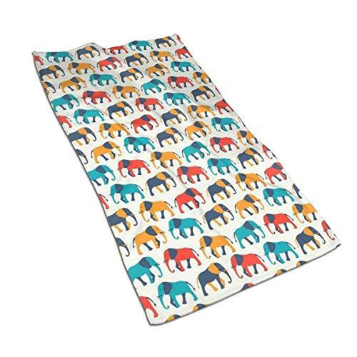 Tyueu Toalla de cara de elefante de color animal, toalla de mano, toalla de cocina con diseño 3D, toallas para la cocina, limpieza, cocina, hornear, toalla de lavavajillas 15.6 x 27.5 pulgadas