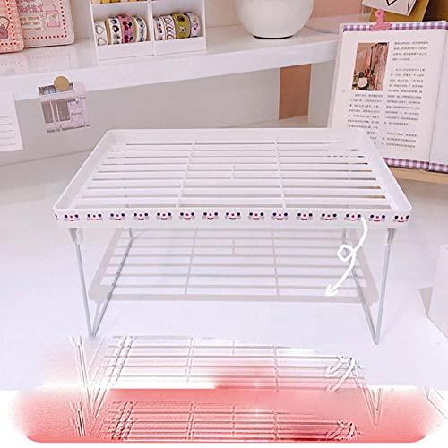 Caja de almacenamiento de escritorio Cajón Estante Caja de almacenamiento Contenedor Estante Organizador Organizador Papelería cosmética Estante de escritorio Kawaii 2021-marco plegable grande