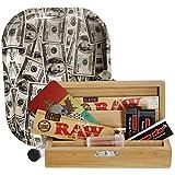 Heisenberg Rolling Box aus Bambus, Geschenk-Set für Selbstdreher mit Holzbox, Rolling Tray, Papers,...