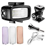 Neewer Waterproof Up to 131ft/40m Underwater 20 LED 700LM Flash Dimmable Fill Night Light with 3...