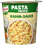 Knorr Snack Bar Pasta Snack ,Nudeln in Rahm-Sauce, 8er Pack (8 x 69 g) -