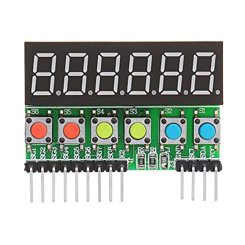 Módulo electrónico TM1637 6-bits Tubo LED Display principales Interfaz CII módulo de escaneo DC 3.3V a 5V for A-r-d-u-i-n-o Digital - Los productos que funcionan con placas A-r-d-u-i-n-o oficiales 3pc