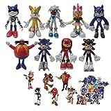 Figura de Sonic Ratón supersónico Figura sónica Decoración Personajes de anime Dar regalos de cumple...