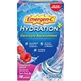 Includes 18 single-serving packets (033-ounce each) of Emergen-C Hydration+ in Raspberry flavor Emergen-C Hydration+ is made with key electrolytes to replenish you and Vitamin C to fortify you Hydration powder formula features as much potassium as a ...