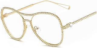 FJCY - Gafas de Sol de Aviador Redondas para niños Moda con Remaches de Abeja Decoración Gradiente Gafas de Sol para niños Niños Niñas Unisex Retro-6-Dj6607-C1