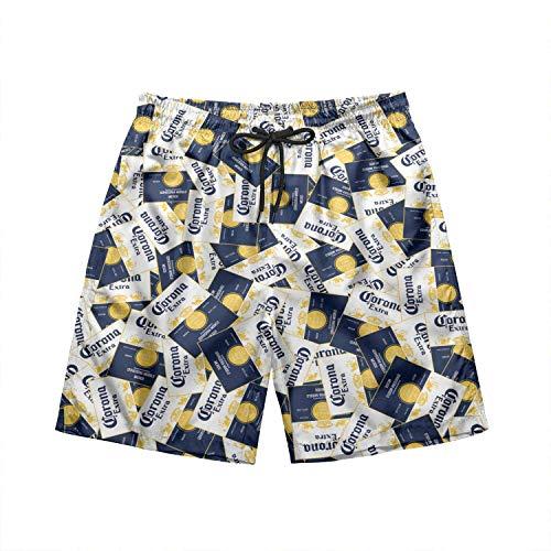Shichangwei Herren Badehose Badeshorts Mens Swim Trunks Quick Dry Shorts with Drawstring Natural-Light-Naturdays-Beer- Lining Funny Swimwear