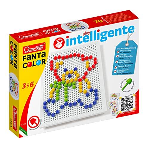 Quercetti- Fanta Color Basic Gioco di Composizione, Multicolore, 102 Pezzi, 2122