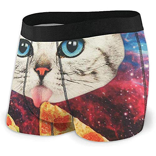Web--ster Slip Boxer Galaxy Food Cat Men 'S' Stretch Intimo...