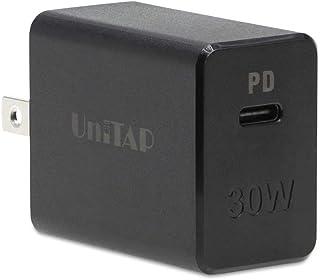プリンストン UniTAP PD30W対応 Type-C超急速充電器(GaN/窒化ガリウム採用、Power Delivery対応、スイングプラグ) PPS-PD30G