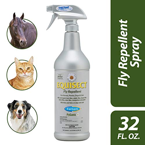 Farnam 3002536 Equisect Repellent for Horses, Dogs and Cats Fly and Insect Control, 32 Ounces