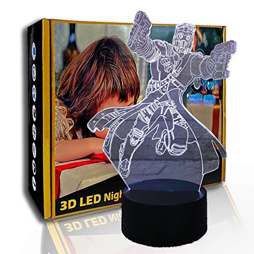 KangYD Figura de anime de novedad de luz nocturna 3D, lámpara de ilusión óptica LED, F- Base de audio Bluetooth (5 colores), Lámpara de humor, Luz creativa