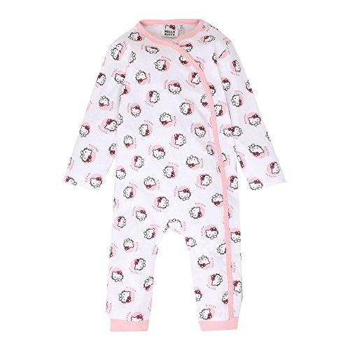 Hello Kitty Strampler, Anzug, Glitzereffekt, weiß, Gr. 62-92 Größe 24M