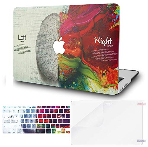 KECC MacBook Pro 13 Pulgadas (2020, Touch Bar) Funda Dura Case w/EU Cubierta Teclado + Lamina Protectora MacBook Pro 13.3 Ultra Delgado Plástico {A2289/A2251} (Cerebro)