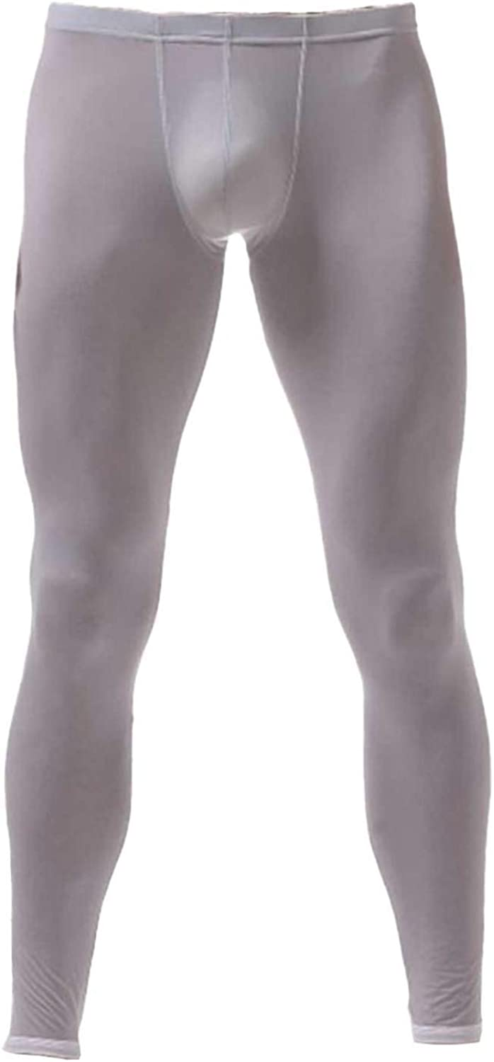 ACSUSS Men's Athletic Sports Thin Leggings Pants Long Johns Bottoms Workout Running Tights Underwear