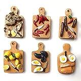 6pcs Mini 1/6 Miniatur-puppenhaus Spiegelei Chili Schneidebrett Barbies Spielküche Ice Cream Zubehör Spielzeug