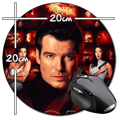 James Bond 007 El Mañana Nunca Muere Tomorrow Never Dies Pierce Brosnan Tappetino per Mouse Tondo Round Mousepad PC