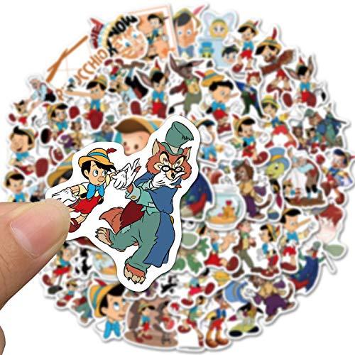 WYZN 50 Pz Pinocchio Divertente Adesivi Personalità Creativo Fai Da Te Bambini Scrapbook Decorazione Notebook Computer Impermeabile Scooter Vinile Adulto Adolescente Vsco Graffiti Sticker Decal