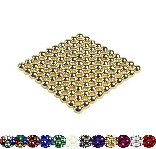 LaoSiJi Muchos Modelos: 100 magnético Bolas 5 mm para Pizarra, Pizarra magnética, frigorífico, Dorado