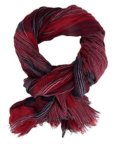 Ella Jonte Écharpes foulard d'homme élégant et tendance de la dernière collection hiver by Casual-Style bordeaux rouge et noir - idéal pour l'hiver ma