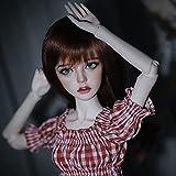 KSYXSL Delicado BJD Doll 1/3 SD Muñeca 61CM Articulaciones Cosplay Muñecas de Moda con Ropa Zapatos Peluca Peluquería Regalo Coleccionable para Niños
