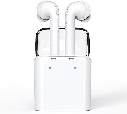 OKCSC GF7 Bluetooth イヤホン ワイヤレス ブルートゥース カナル型 ミニ スポーツ ヘッドセット ヘッドフォン Hifi 高音質 両耳 iPhone7に対応 ノイズキャンセル対応 マイク付き V4.2 (ホワイト)