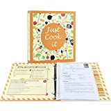 Soligt Full Page Recipe Binder Kit with 30 Page Protectors, 12 Color Dividers and 24 Label...