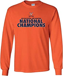 Elite Fan Shop UVA Virginia Cavaliers National Basketball Champions Long Sleeve Tshirt 2019 Bold Orange