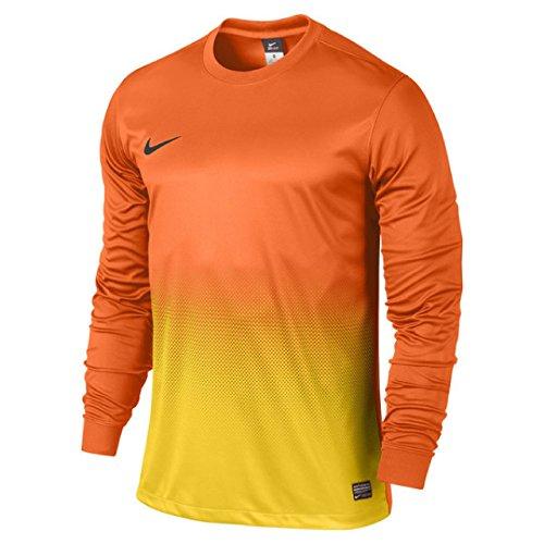 Nike Precision II GD - Camiseta Deportiva de Manga Larga Multicolor Safety Orange/Tour Yellow/Midnight Navy Talla:Small