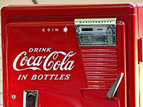 Home Comforts Peel-n-Stick Poster of Machine Vintage Retro Old Red Classic Coke Vivid Imagery Poster 24 x 16 Adhesive Sticker Poster Print