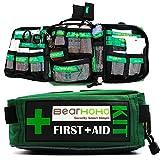Qnlly 165 PCS Handy Survival Kit de Primeros Auxilios Bolsa de Trauma de Emergencia vacía Kit médico con Compartimentos etiquetados para el hogar, la Oficina, el Camping, el Lugar de Trabajo