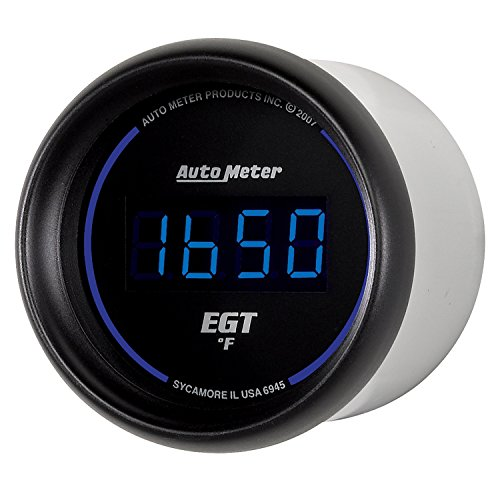 "Auto Meter 6945 Cobalt Digital 2-1/16"" 0-2000 F Pyrometer E.G.T. (Exhaust Gas Temperature)"