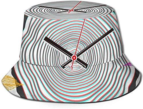DUTRIX Sombrero de Cubo de Acuario Unisex Transpirable Superior Plano Sombrero de Pescador de Verano-Anillo Anual de Tiempo-Talla única