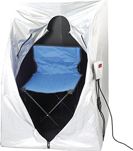 newgen medicals Mini Infrarotkabine: Tragbare Infrarot-Sauna V2 mit 2 Heizern, 1600 Watt (Mini Sauna für Balkon) - 2