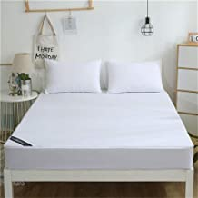 White Waterproof Breathless Cotton Mattress Cover, Bed Padded Mattress Protector Antibacterial Bed Cover,150 * 200 * 25CM