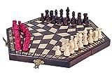 KADAX Schachspiel für DREI Personen, Schach aus hochwertigem Holz, für Kinder, Anfänger,...