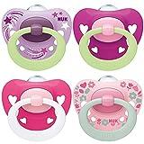 NUK chupetes para bebés noche y día | 6-18 meses | Chupetes que brillan en la...