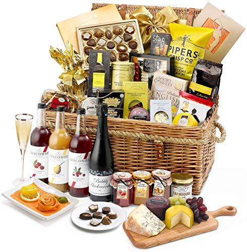Kingham Hamper - Alcohol-Free - Hand Wrapped Gourmet Food Basket, in Gift Hamper Box
