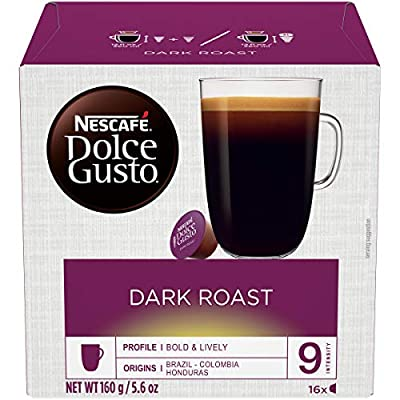 Nescafe Dolce Gusto Coffee Pods, Dark Roast, 16 capsules, Pack of 3