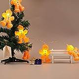 LED Lichterkette Batteriebetrieben, Dapei Lichterketten für Zimmer, 2.5m 20er Lebkuchenmänner Micro LED Lichterkette Draht Innen für Party Weihnachten Halloween Hochzeit Deko (Warmweiß)