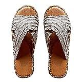 Womens New Denim Slippers, Hairy Cross Sandals and Slippers, Flat Slippers,Flat Slippers Women New Denim Plush Cross Sandals and Slippers