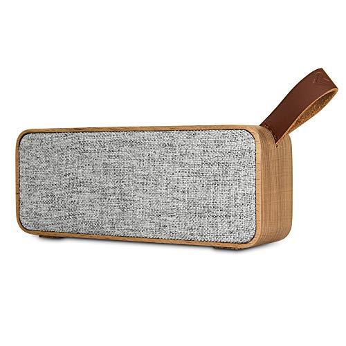 Energy Sistem Speaker Eco Beech Wood (Altavoz portátil elaborado con Cuerpo de Madera y Tela orgánica Que respeta el Medio Ambiente, Bluetooth 5.0, TWS, 6 W, USB MP3, FM Radio) Madera de Haya.