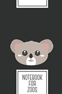 Notebook for Zoos: Lined Journal with Cute friendly Koala head Design - Cool Gift for a friend or family who loves australian presents! | 6x9"