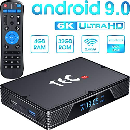 Android 9.0 TV Box 4GB RAM 32GB ROM, Android TV Box Allwinner H603 6K HD 2.4G/5GHz Dual WiFi BT Support HDMI in Android Box