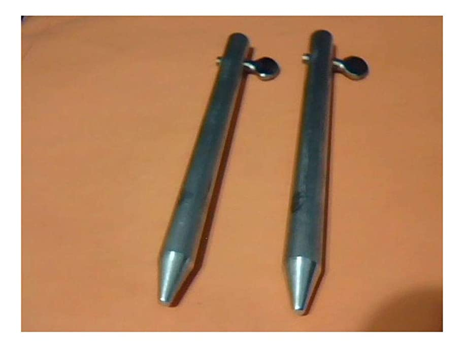 Locking Pins for Accordion Hurricane Storm Shutter Panels, 6 inch, 1 Pair, New
