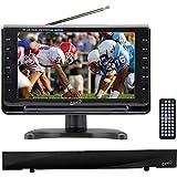 Supersonic 9' Portable Digital LCD TV SC-499 + HDTV Flat Digital Antenna SC-612