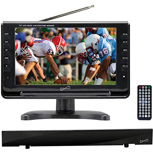 "Supersonic 9"" Portable Digital LCD TV SC-499 + HDTV Flat Digital Antenna SC-612"