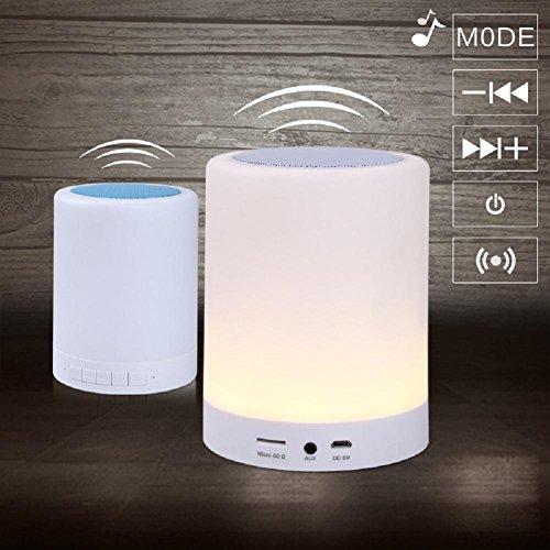 Lampes de Bureau Lampe de Table Émotionnel Intelligence Wireless Bluetooth Musique Nuit lumière Son Lampe de Bureau LED